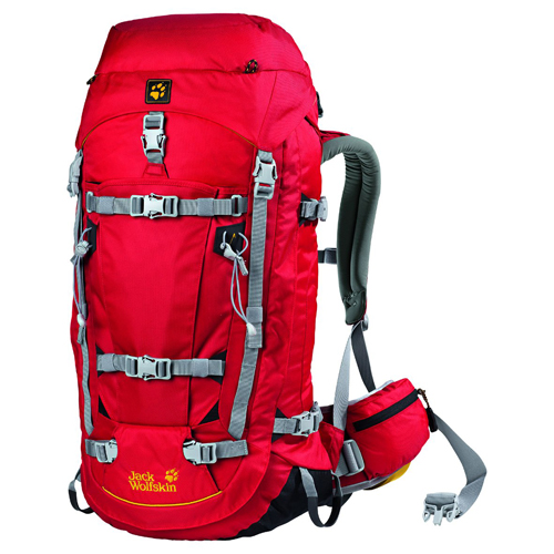 Balo Jack Wolfskin Mountaineer 48L Red